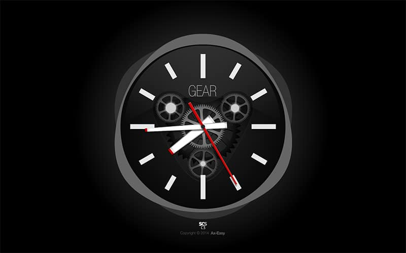 C3 - Gear Mac & PC Analog Gears Screensaver