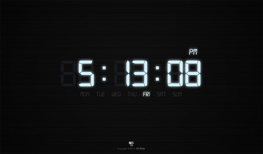 C6 - Digs Mac & PC Digital Clock Screensaver