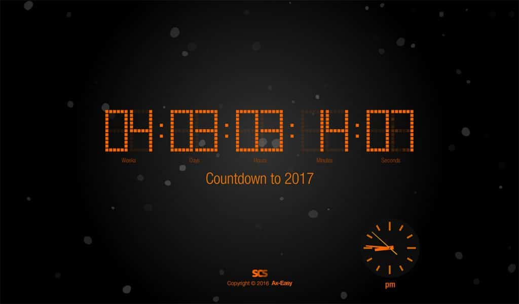 Countdown to 2017 Screensaver