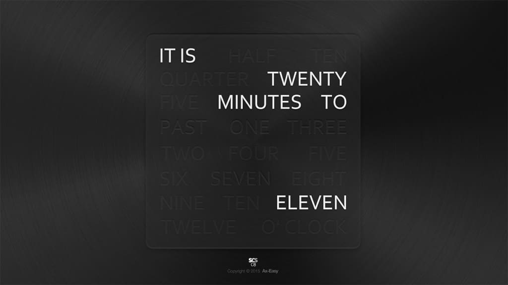 C8 - Words Mac & PC Text Wall Clock Screensaver