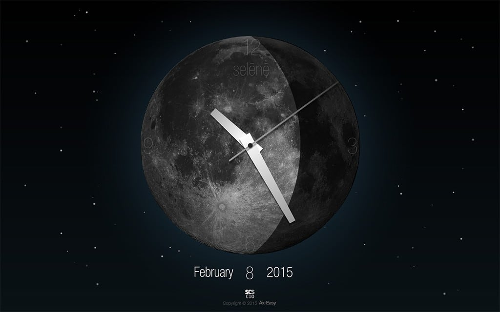 C10 - Selene Mac & PC Moon Phase Clock Screensaver