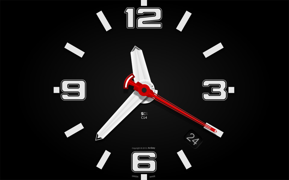 C14 - Tough Mac & PC Clock Screensaver