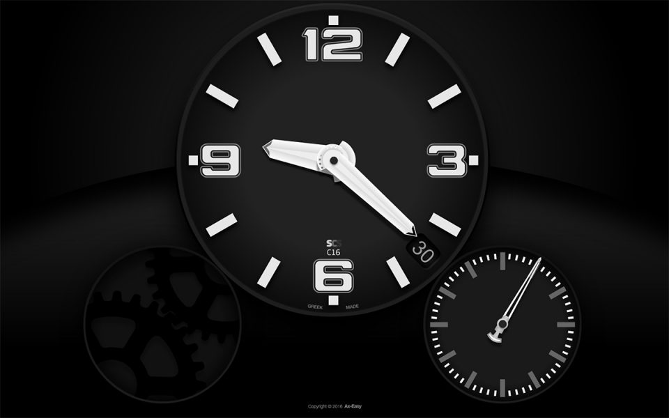C16 - Chronic Mac & PC Clock Screensaver