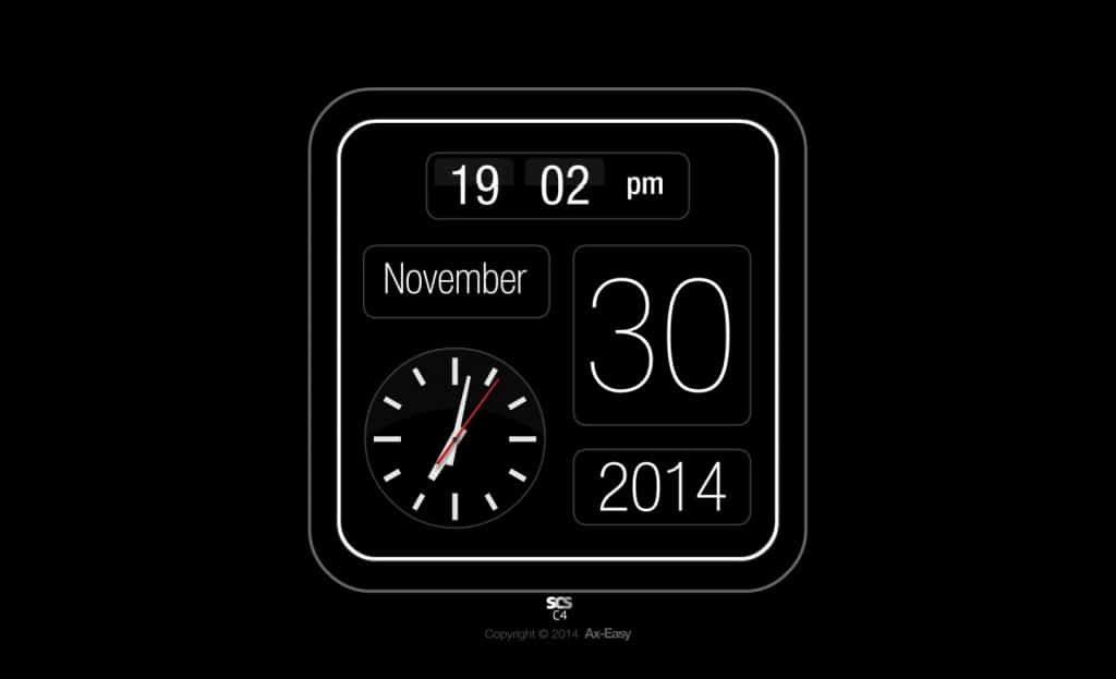 C4 - Slick Mac & PC Analog Clock Calendar Screensaver