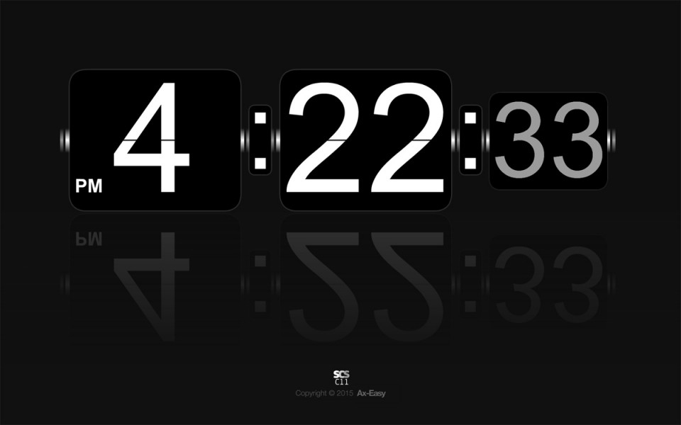 C11 - Reflip Mac & PC Clock Screensaver